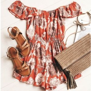 Amuse Society Off the Shoulder Romper